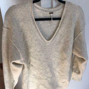 Free People Cozy Oversized Cream Sweater